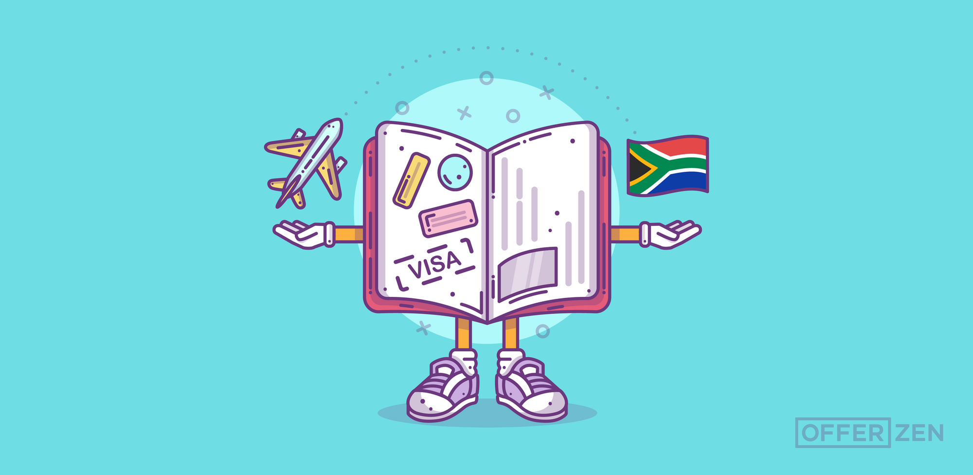Heena_Visa-character-with-plane-and-flag_Here-s-What-I-Learnt-When-Applying-for-a-South-African-Critical-Skills-Visa_Inner-Article-Image-02
